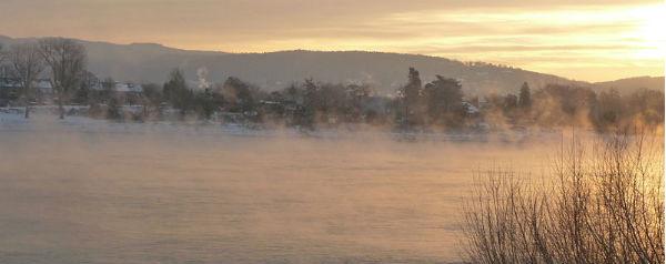 De Rijn in de winter