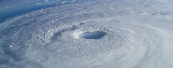 Oog van orkaan