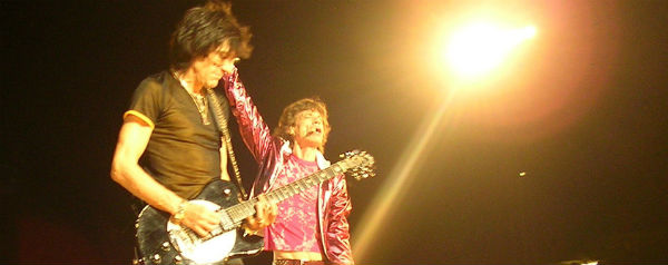 Rolling Stones Wood and Jagger