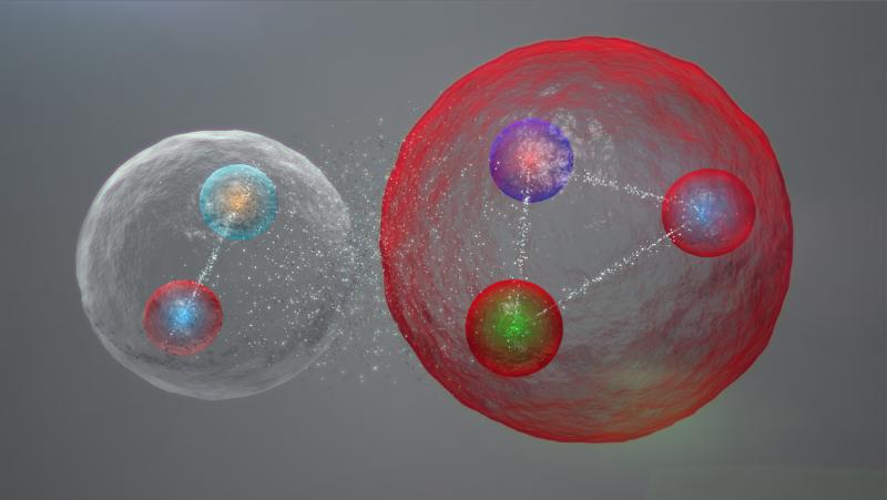 Pentaquark die bestaat uit baryon en meson