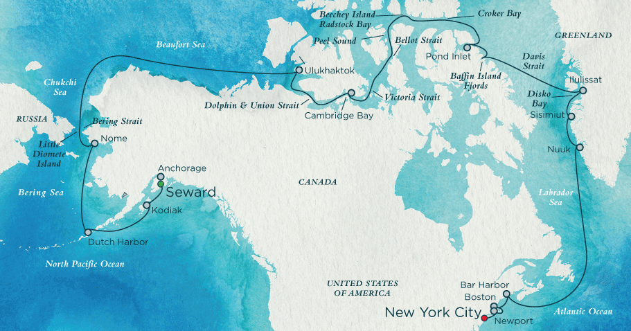 Route Crystal Serenity
