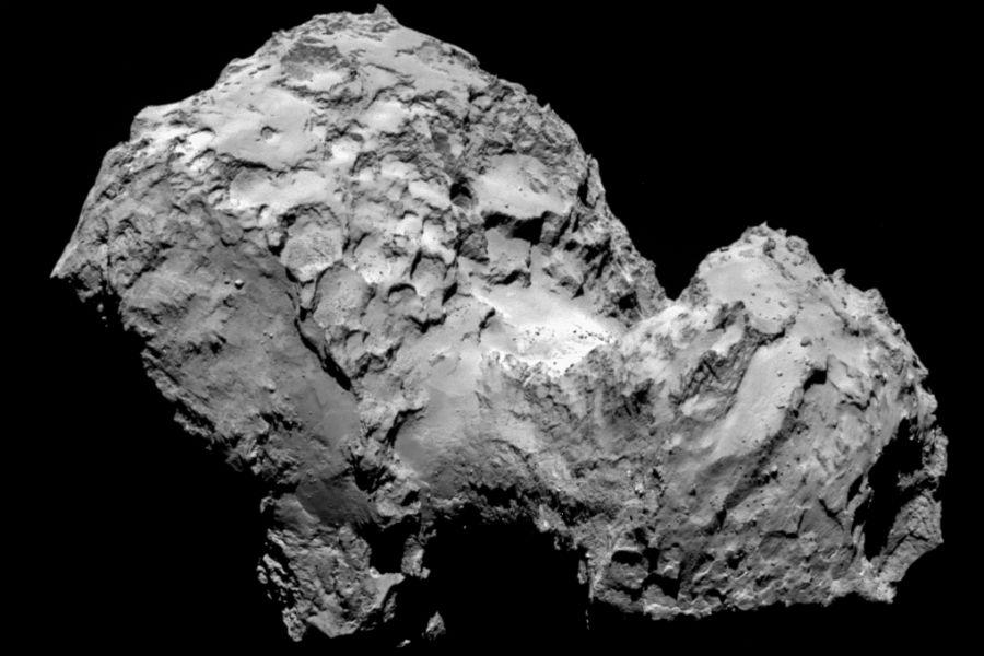 Komeet 67P gefotografeerd door Rosetta