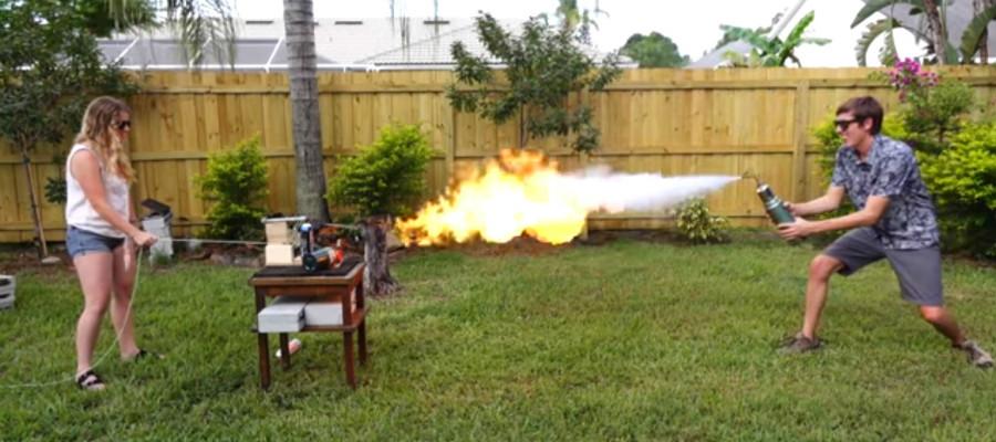 Freeze ray versus vlammenwerper