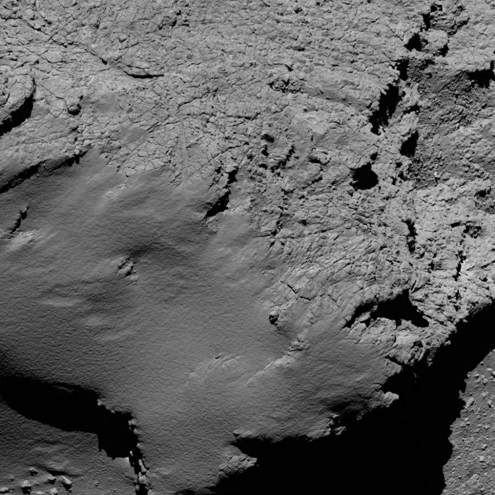 Komeet 67P van 8,9 kilometer hoogte