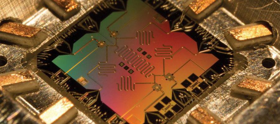 Vier qubits op een chip