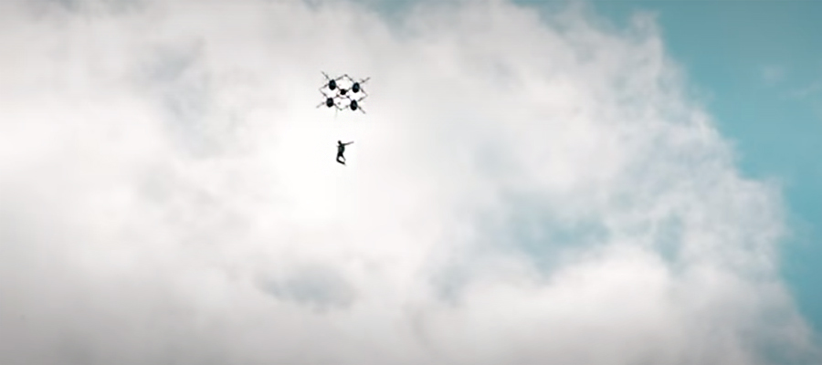 drone skydiving