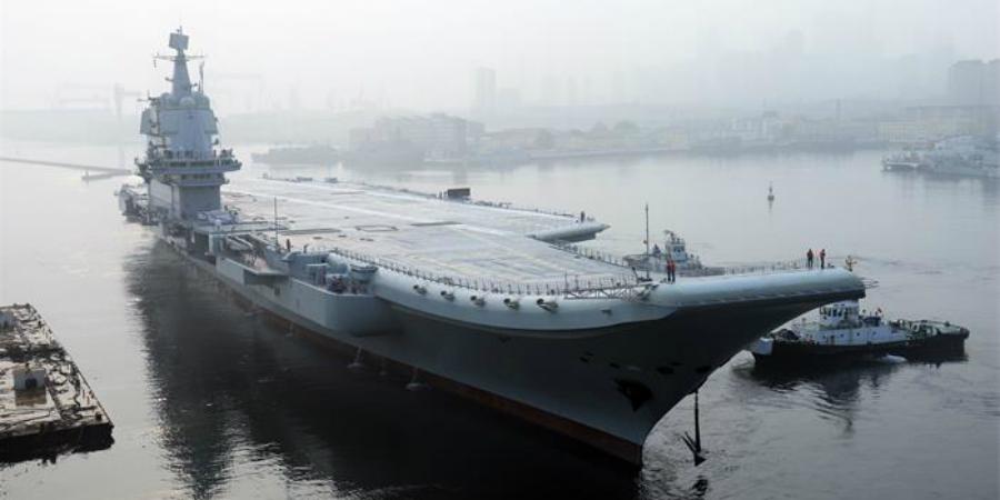 Vliegdekschip China begint aan testvaart. Bron: China Daily