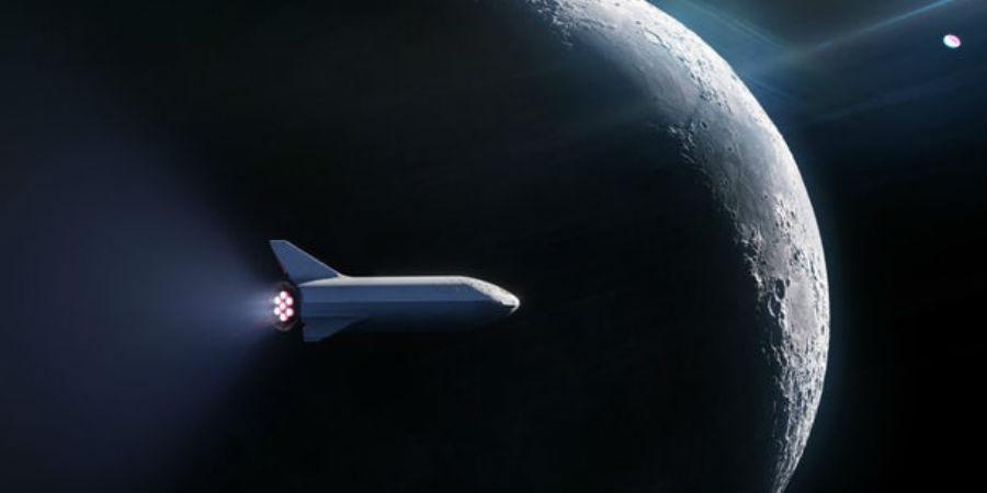 SpaceX ruimte maan