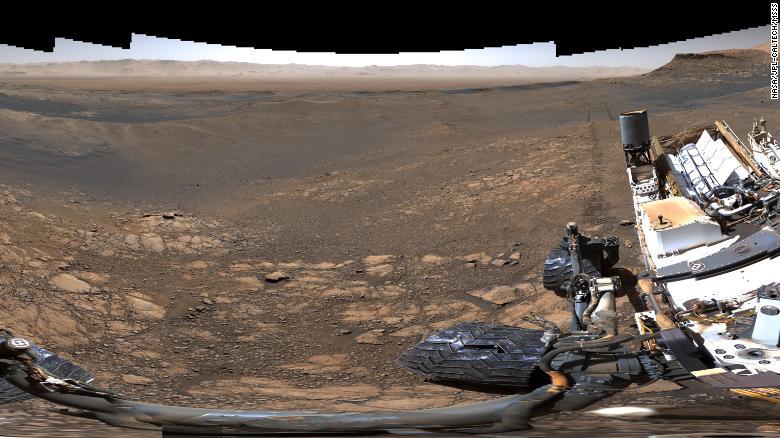 Een kleine, tweede plaat van Curiosity: 650 miljoen pixels