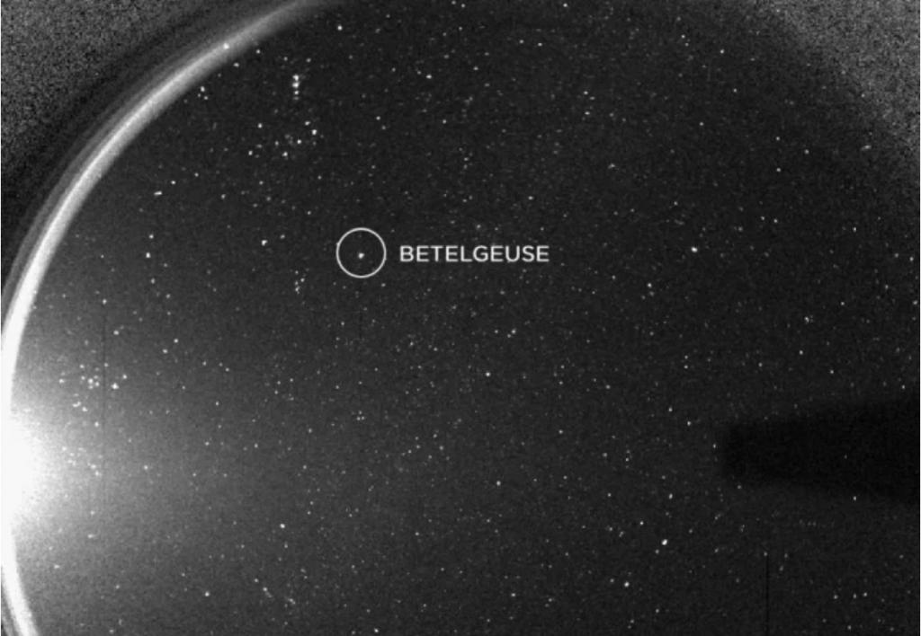 Beeld van Betelgeuze gemaakt door STEREO-ruimtesonde