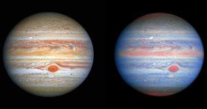 Jupiter wervelwinden